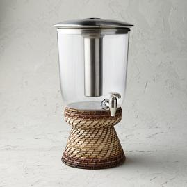 Rattan Nito 3-gallon Beverage Dispenser Base