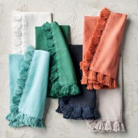 Chunky Fringe Napkins, Set of Four