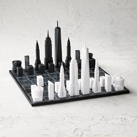 Skyline Chess Acrylic/Wood Map Edition