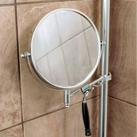 Reversible Mirror with Razor Hooks Accessory