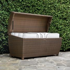 All-weather Wicker Storage Chest