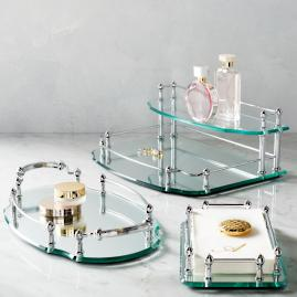 Belmont Personalized Oval Vanity Tray