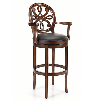 "Kristina Swivel Bar Height Bar Stool (30""H seat, 37-1/2""H arms)"