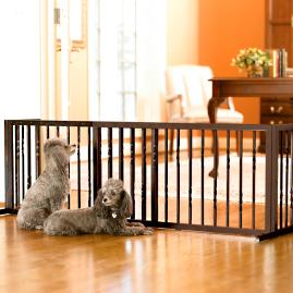 Freestanding Pet Barrier in Bronze
