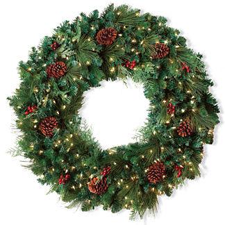 Classic Pre-lit Christmas Wreath