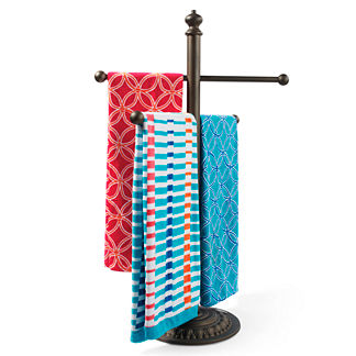 Cast-Aluminum Towel Stand