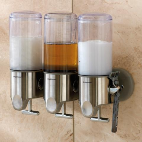 croydex soap euro bath asp trio dispenser shower shampoo p