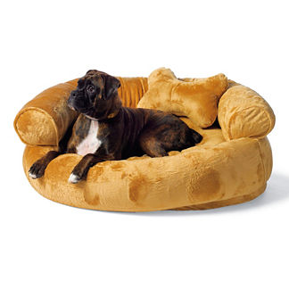 Fleece Comfy Couch Pet Bed