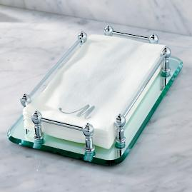 Belmont Rectangular Guest Towel Tray
