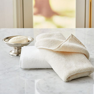 Resort Cotton Fingertip Towels, Set of Two