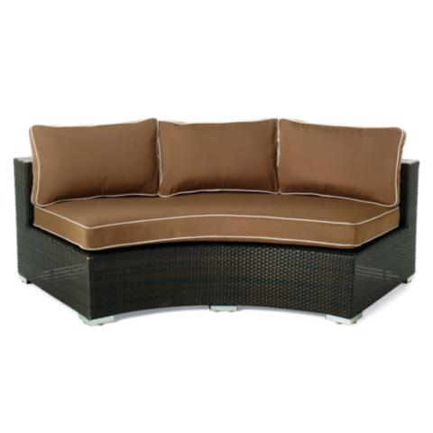 Chelsea Curved Sofa with Cushions | Frontgate