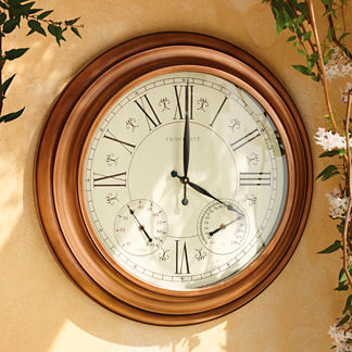 Oversized Outdoor Clock with Thermometer