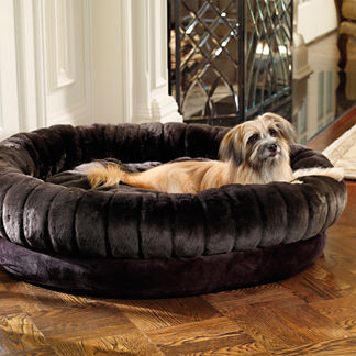 Luxe Faux Fur Double-bolster Pet Bed