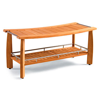 Estate-size Spa Teak Shower Bench