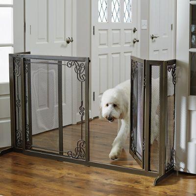 34 Quot H Expandable Freestanding Mesh Pet Gate Frontgate