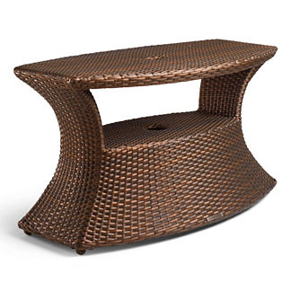 Balencia Bronze Umbrella Table