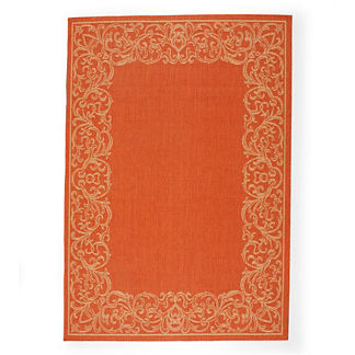 Fresco Border Outdoor Area Rugs
