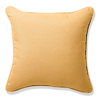 Outdoor Square Pillow in Sunbrella® Wheat