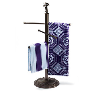 Cast-aluminum Finial Towel Stand