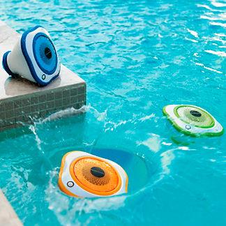 Set of Three Floating LED Pool Speakers
