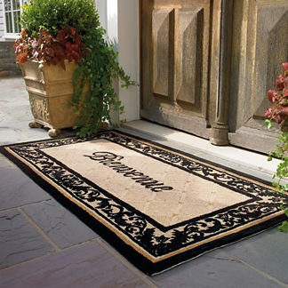 Welcome Door Mat in French
