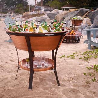 Estate Copper Beverage Tub and Stand