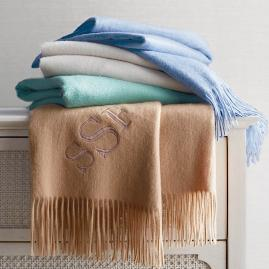 Cashmere Fringe Throw