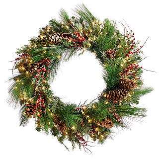 Estate Pre-Lit Wreath
