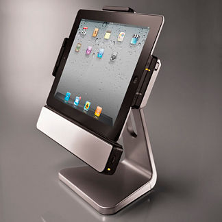 Rotating iPad 2 and iPad 3 Dock with Speakers