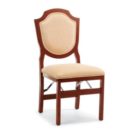 Shield Back Folding Chairs, Set Of Two