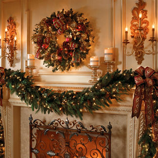 Majestic Double-sided Pre-lit Garland