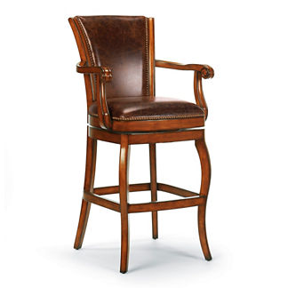 "Barrington Swivel Bar Height Bar Stool (30""H seat)"