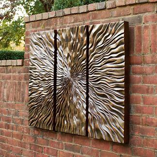 Sunburst Triptych Wall Art