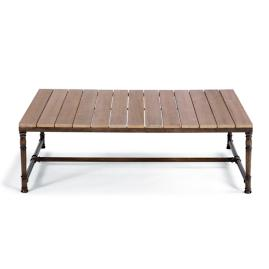 Hyde Park Teak-top Coffee Table in Ocean Grey