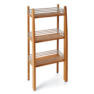 Spa Teak Three-tier Shower Shelf