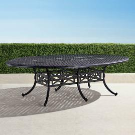 Carlisle Oval Cast-top Dining Table in Onyx Finish