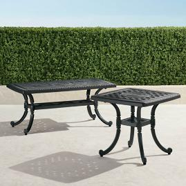 Carlisle Cast-top Tables in Onyx Finish