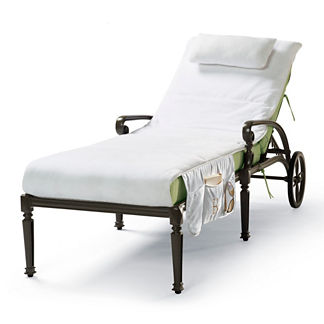 Cushioned velour chaise covers frontgate - Chaise pliante velours ...