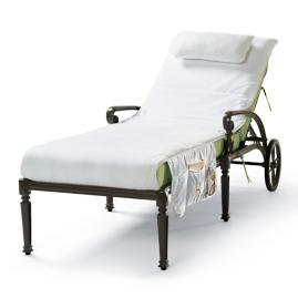 Cushioned Velour Chaise Cover