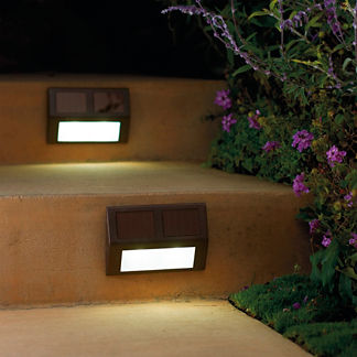 Set of Four Solar Wedge Lights