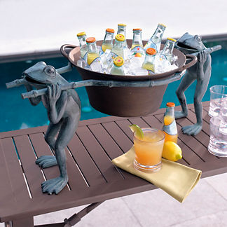 Frog Beverage Tub and Stand
