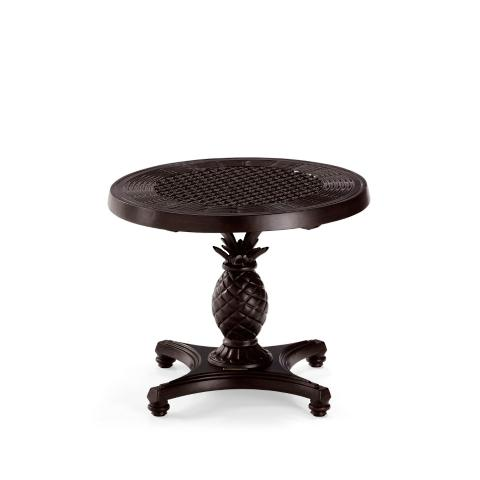 British Colonial Round Pedestal Side Table