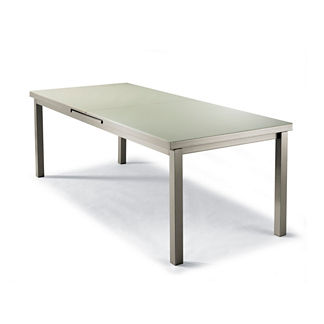 Milano Extending Glass-top Dining Table