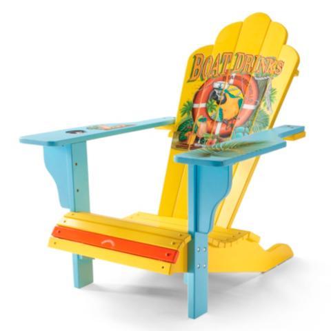 Genial Margaritaville Boat Drinks Adirondack Chair