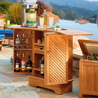 Teak Foldable Bar