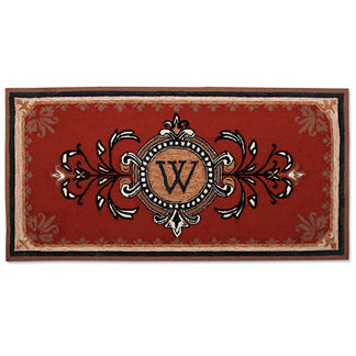 "Huntington 36"" x 72"" Monogrammed Entry Mat with Free Companion Mat"