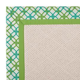 Indoor/Outdoor Parkdale Rug in Sunbrella® Criss Cross Jade/Gingko