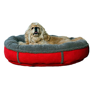 Faux Suede and Tipped Berber Pet Bed