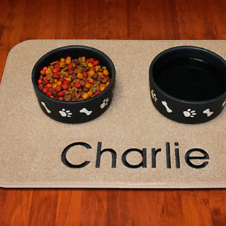 Embroidered Pet Placemat