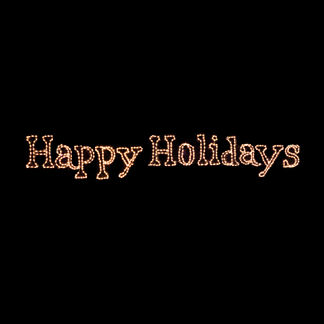 "Lighted ""Happy Holidays"" 5-ft. Sign"